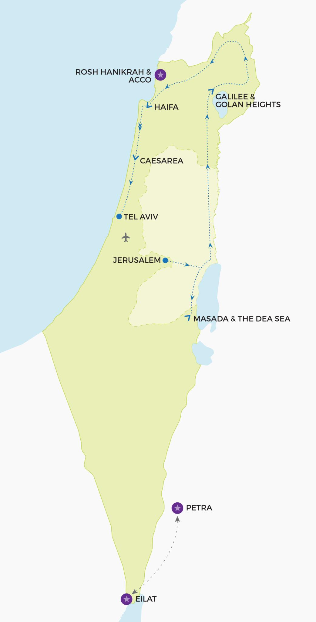 Map of Israel - MyTurn