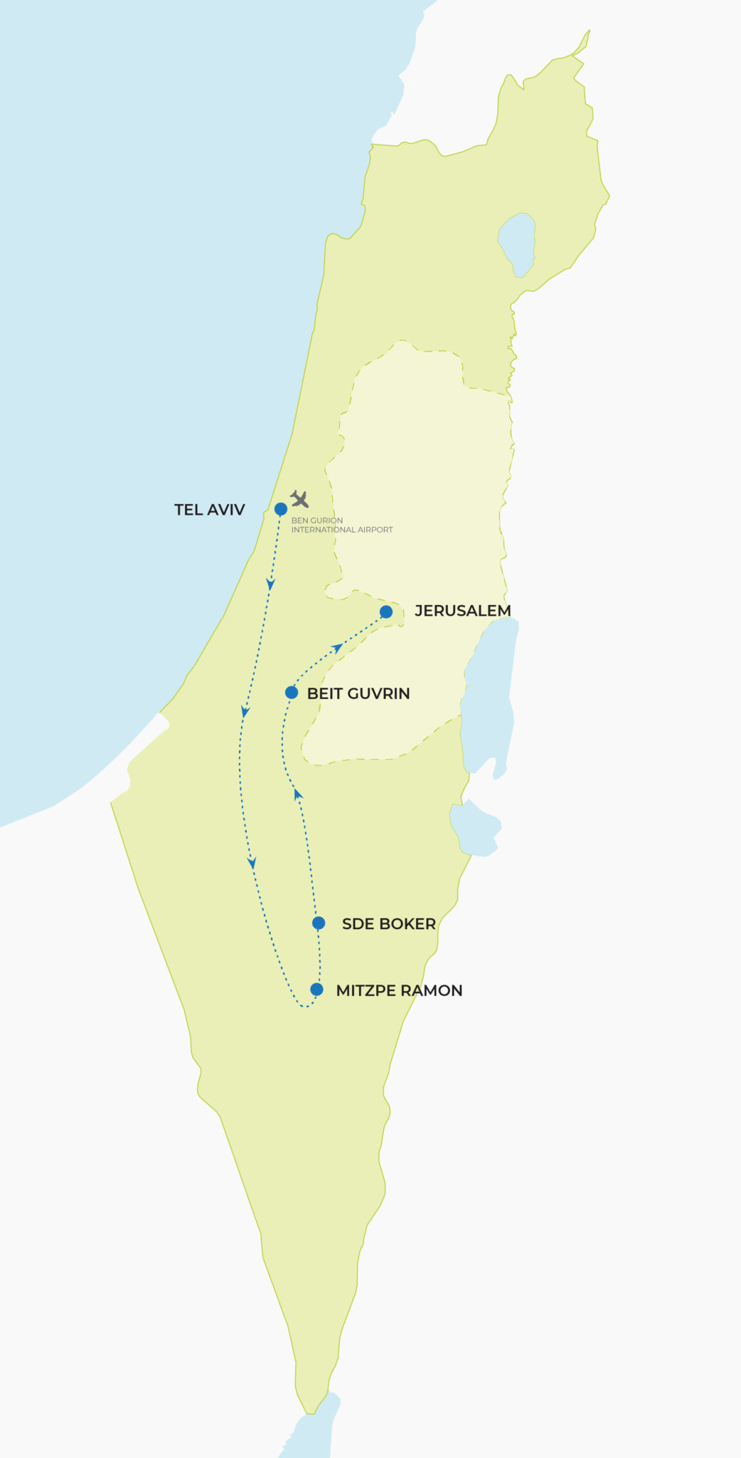 Israel Revisited Map